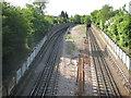 TQ4488 : Newbury Park: Central Line railway by Nigel Cox
