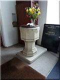 SD2296 : Holy Trinity Church, Seathwaite, Font by Alexander P Kapp