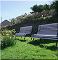 SW3731 : Benches at St. Just, Penwith by nick macneill