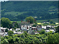 SO2242 : The town of Hay-on-Wye from the north by Eric Pugh