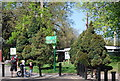 TQ3470 : Green Chain and Capital Ring sign, Crystal Palace Park by N Chadwick