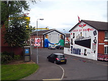 J3574 : Murals in Kenilworth Place, off Newtownards Road by Rod Allday