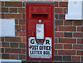 ST9441 : 2011 : George V Post Office letter box, Upton Lovell by Maurice Pullin