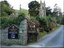 SH5638 : Information Board and Path to St John's Church, Porthmadog, Gwynedd by Christine Matthews