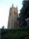 SH5638 : Tower, St John's Church, Porthmadog, Gwynedd by Christine Matthews