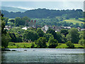 SO2242 : Hay-on-Wye from the north bank of the river Wye by Eric Pugh
