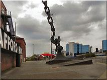 SJ8196 : Trafford Park Skyhook by David Dixon