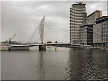 SJ8097 : MediaCity Footbridge by David Dixon