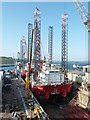 SW8132 : Dry dock, Falmouth by Chris Allen