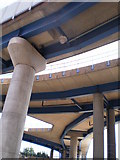 TQ3780 : DLR viaducts Nr West India Quay, London - 31-8-2009 by Duncan Watts