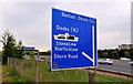 J3478 : Motorway direction sign, Belfast by Albert Bridge
