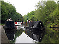 SK5639 : Narrow boats on the Nottingham Canal by John Sutton