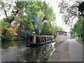 SK5639 : Nottingham Canal: making for the city by John Sutton