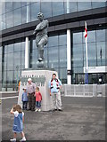 TQ1985 : Wembley Stadium : Bobby Moore Entrance by Stanley Howe