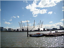 TQ3980 : View of the O2 from Trinity Buoy Wharf #2 by Robert Lamb
