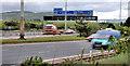J3478 : Motorways merging near Belfast by Albert Bridge