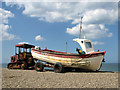 TG1143 : Fishing boat at Weybourne Hope by Evelyn Simak