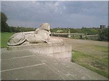 TQ3370 : Surveying past glories at the Crystal Palace by Marathon