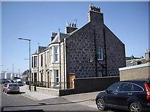 NJ9505 : Semi-detached houses on New Pier road, Footdee by Stanley Howe