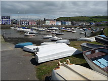SN4562 : Aberaeron harbour by Jeremy Bolwell