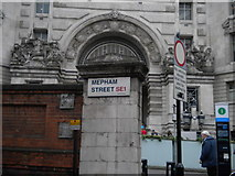 TQ3179 : Street sign, Mepham Street SE1 by Robin Sones