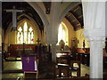 SW5531 : Chancel and side chapel, St. Hilary's by nick macneill