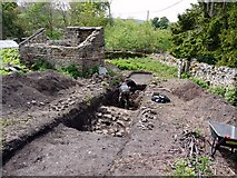 NY9038 : Archaeological excavation at Westgate 'Castle' by Andrew Curtis