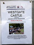 NY9038 : Notice Board, Westgate by Andrew Curtis
