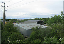 SU6553 : View of the recycling centre - Wade Road by Sandy B