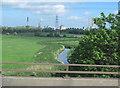 SJ4775 : Hornsmill Brook from M56 by John Firth
