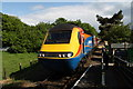 TG1001 : High Speed Train leaving Wymondham Abbey Station by Glen Denny