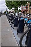 TQ3078 : London : Lambeth - Bikes on the Albert Embankment by Lewis Clarke