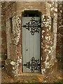 SS7812 : Door, Thelbridge church by Derek Harper