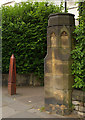 TQ3089 : Pyramidical bollard and church boundary, Hornsey by Julian Osley