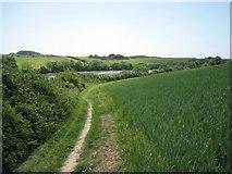 SX7641 : Footpath by Frogmore Creek by Robin Stott