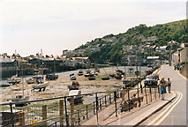 SX2553 : Quay Road and Looe Harbour by Stuart Logan
