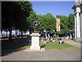 TQ3877 : Sir Walter Raleigh Statue, Royal Naval College, Greenwich by PAUL FARMER