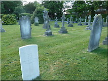 SU5707 : Wickham Road Cemetery (6) by Basher Eyre