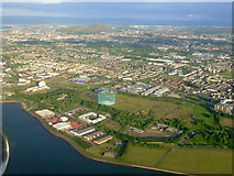 NT2276 : Granton gas works and Arthur's Seat from the air by Thomas Nugent