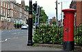 J3375 : Pillar box, Belfast by Albert Bridge