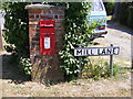 TM3754 : Mill Lane sign & Tunstall Common Postbox by Adrian Cable