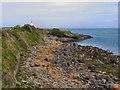 SH5186 : Rocky Shoreline, Moelfre by David Dixon