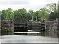 SJ6470 : Vale Royal Locks from below by Mike Todd