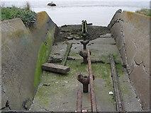 TQ7076 : Torpedo launcher near Cliffe Fort by Ian Cunliffe