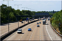 TQ2352 : M25 Near Mogador, Surrey by Peter Trimming