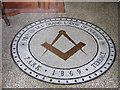 NZ2154 : Masonic Hall mosaic, Beamish by Pauline E