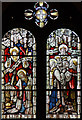 TQ2963 : St Michael & All Angels, Milton Road, South Beddington - Stained glass window by John Salmon