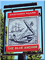 TQ5030 : The Blue Anchor sign by Oast House Archive