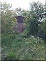 SE8565 : Wharram station water tank by Gary Knighton