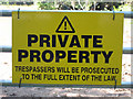 TQ5030 : Private Property sign by Oast House Archive
